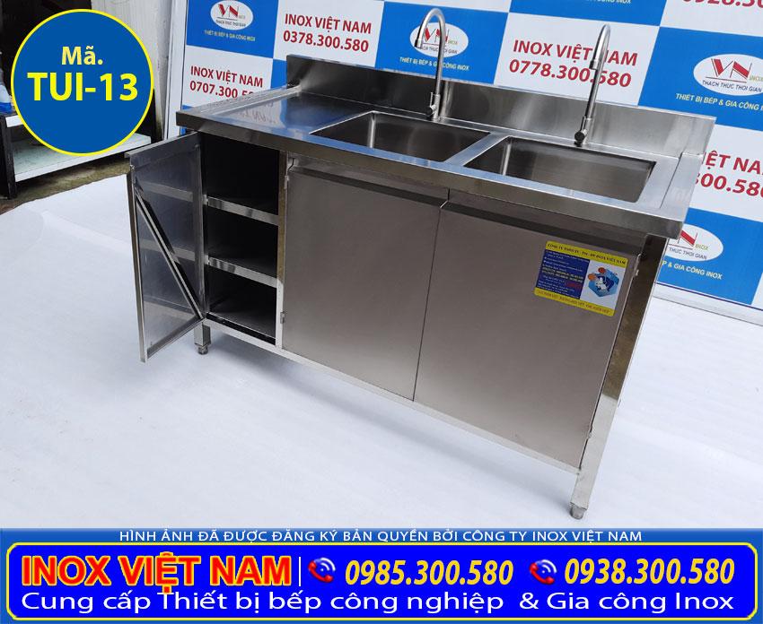 Báo giá tủ inox có bồn rửa chén bát inox tại Inox Việt Nam.