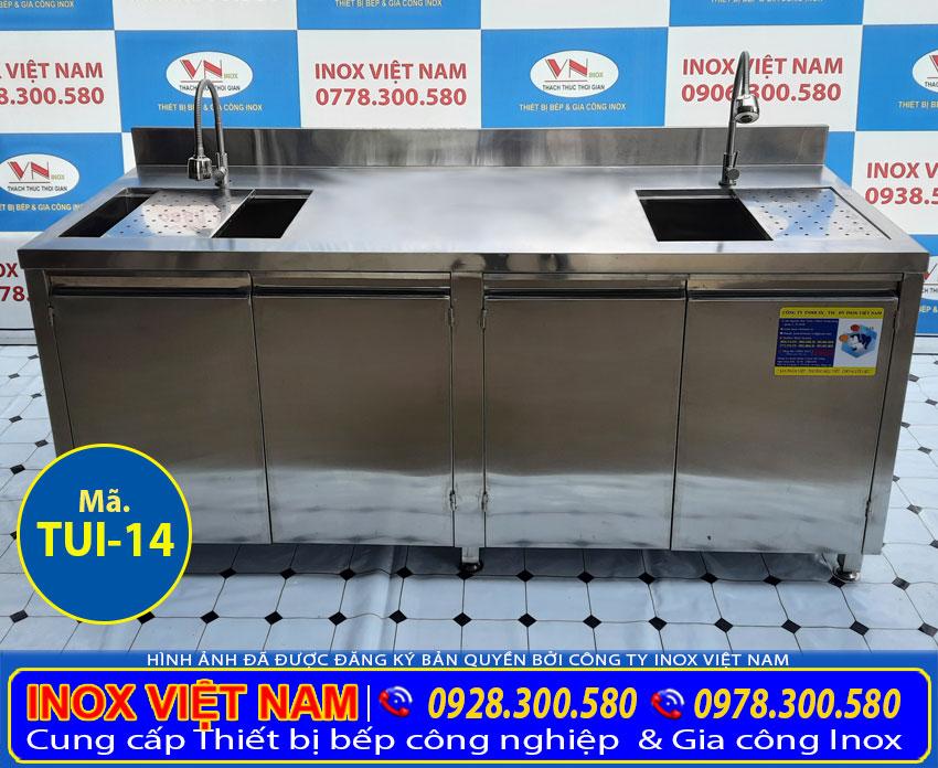 Địa chỉ bán bồn rửa chén bát có 2 bồn rửa dài 2 mét giá tốt.