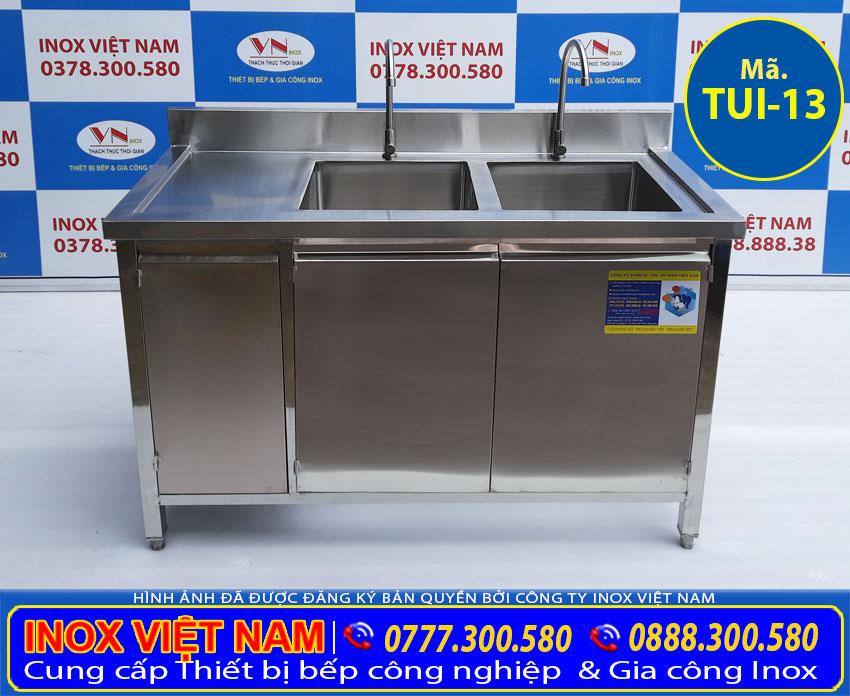 Địa chỉ mua tủ inox có 2 bồn rửa giá tốt chất lượng cho nhà bếp.