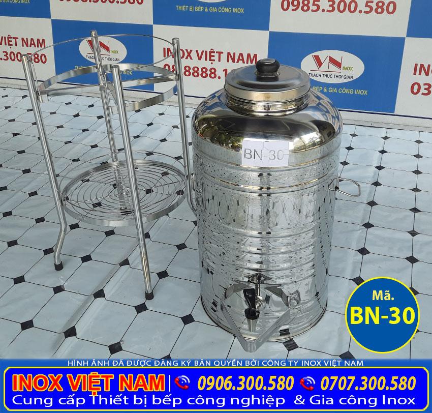 Bộ bình nước inox 30 lít giá tốt tại TP HCM.