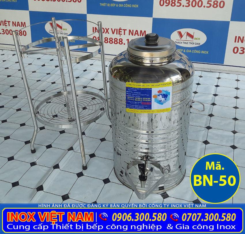 Bộ bình nước inox 50 lít giá tốt tại TP HCM chi tiết liên hệ Inox Việt Nam ngay.